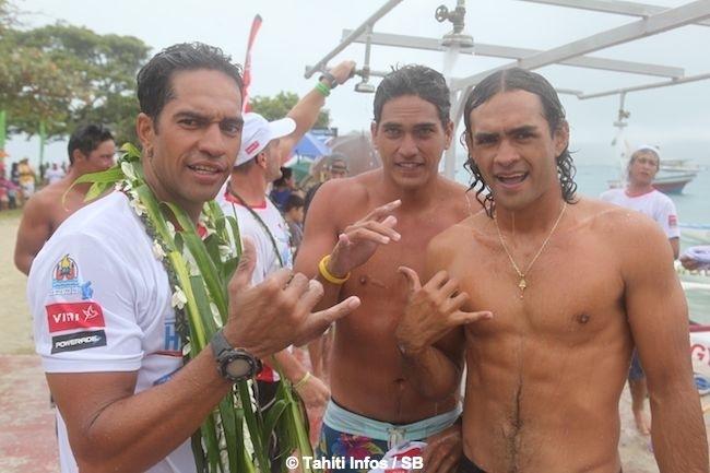Hawaiki Nui Va'a 2014: Une première étape de folie remportée par EdtA : Résumé + Diaporama