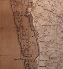 La zone d'Outumaoro sur une carte originale de 1955