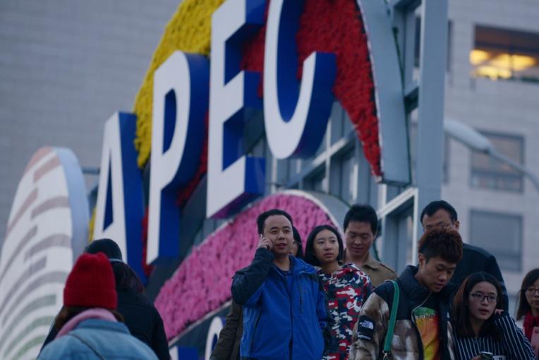 """Une nouvelle couleur apparaît en Chine: le """"bleu Apec"""""""
