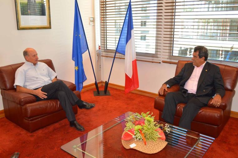 Edouard Fritch reçu par le président du Congrès de la Nouvelle-Calédonie