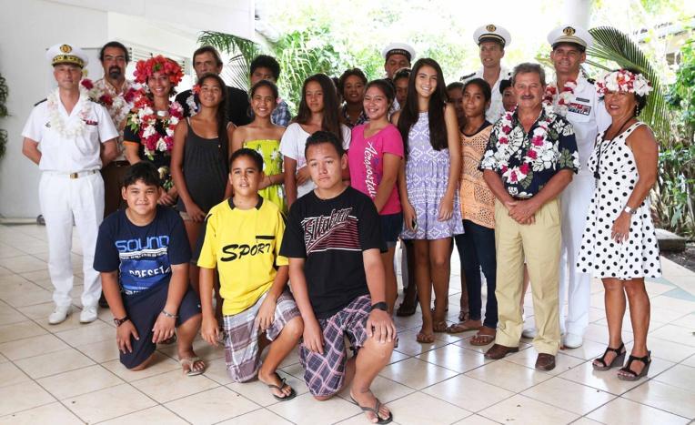 Les élèves de la 3ème 8 du collège de Papara participent à ce projet de classes de défense et de sécurité globale