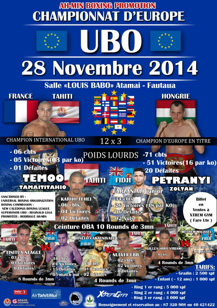 Boxe – Championnat d'Europe UBO : Temoo affrontera le géant hongrois Zoltan Petranyi vendredi