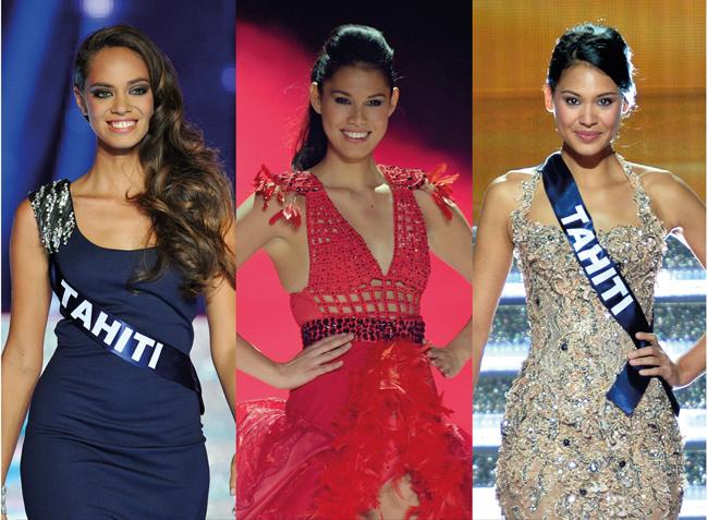 Hinarani de Longeaux, Mehiata Riaria, Hinarere Taputu, les trois dernières Miss Tahiti sont toutes devenues premières dauphines des Miss France 2013, 2014 et 2015.