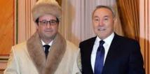 Une photo de Hollande en manteau de fourrure kazakh fait le buzz sur Twitter