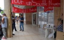 Le siège social du Sefi le jour du démarrage de la grève le mardi 9 décembre 2014.
