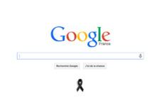 Charlie Hebdo: un ruban noir sur la page d'accueil de Google France