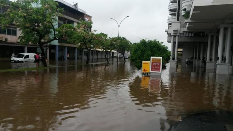 La zone du Velvet est sous l'eau ce matin