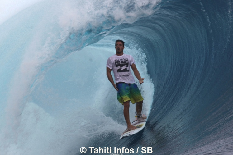Ricardo en août dernier à Teahupo'o