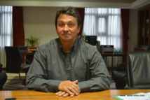 Nuihau Laurey dans son bureau à la vice-présidence du Pays.