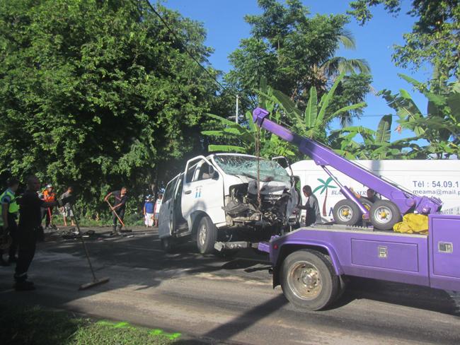Un des véhicules est sorti du lieu de l'accident vers 7h50