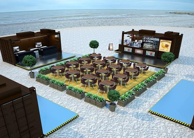 Voici comment pourrait être aménagé l'espace détente de la base vie de Moruroa. Un exemple d'agencement que l'on trouve sur le site Internet de la société Logistics Solutions.