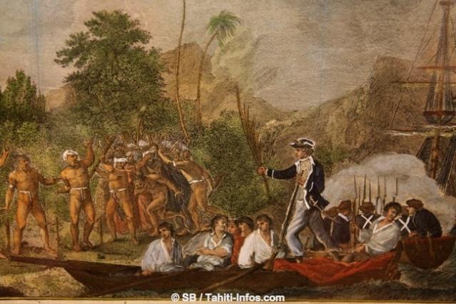 Selon Dreschel, les Européens ont utilisé une forme réduite de la langue polynésienne (un pidgin) pour être en contact avec les habitants du Pacifique dans les premières années de la colonisation avant d'imposer l'anglais ou d'autres langues européennes.