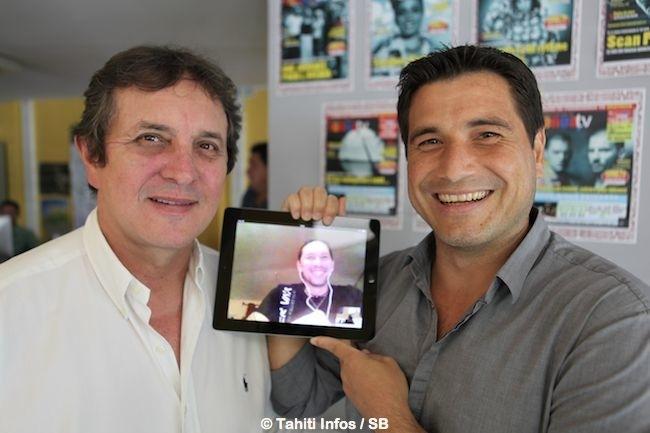 Eric Minardi et Torea Colas avec...Teheiura