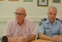Le procureur de la République José Thorel et le chef d'escadron Thierry Damerval ont exposé le résultat d'une enquête de quelques mois sur le système de placement financier pyramidal Get Easy.