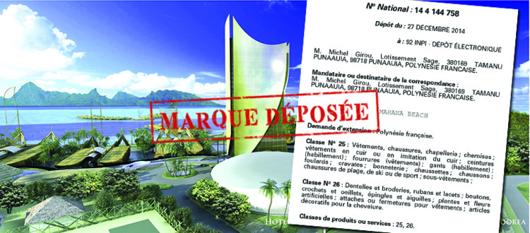 "INPI : un inconnu dépose la marque ""Mahana Beach"""