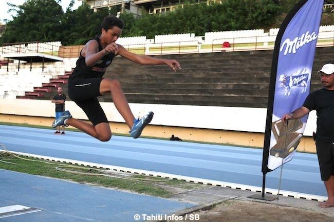 Athlétisme – 3ème compétition Milka : Record de Polynésie et meilleure performance française en saut en hauteur pour Teura Tupaia.