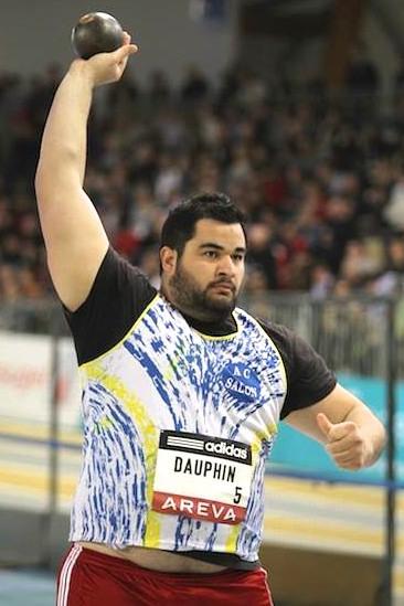 Athlétisme - Lancer de poids : Tumatai Dauphin champion de France Elite indoor 2015.