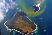 La nouvelle île volcanique émergée en 2013 au sud de Tokyo grossit encore