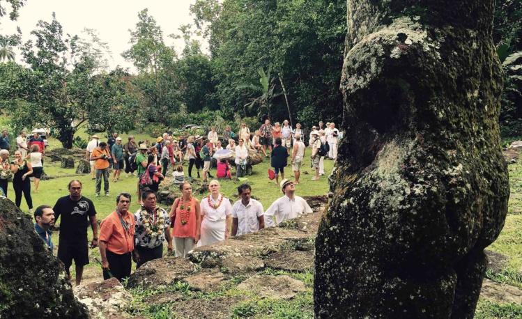 Site de Puamau pour le festival des Marquises