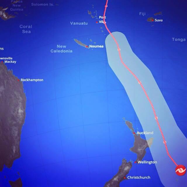 Un cyclone s'approche de la Nouvelle Zélande