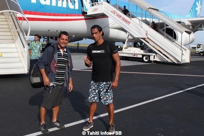 Manoa et Georges ce matin au départ