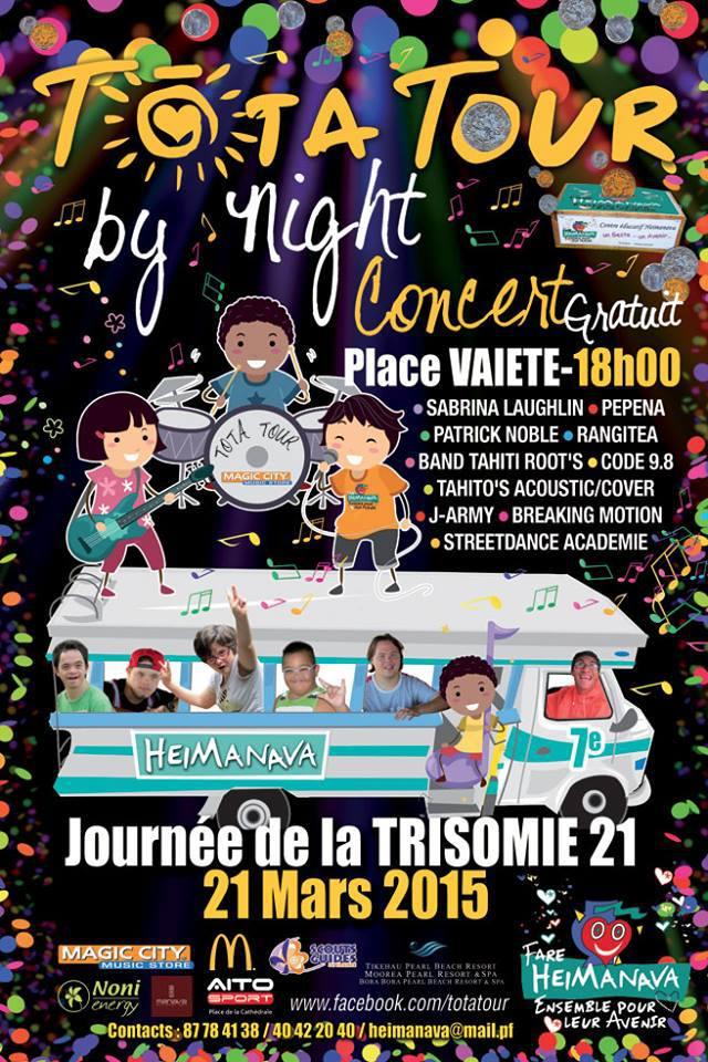 Tota Tour 2015 : Toute une semaine pour les enfants porteurs de la Trisomie 21