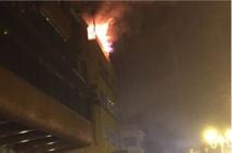 Un incendie dévaste le 4ème étage de l'immeuble du club 106