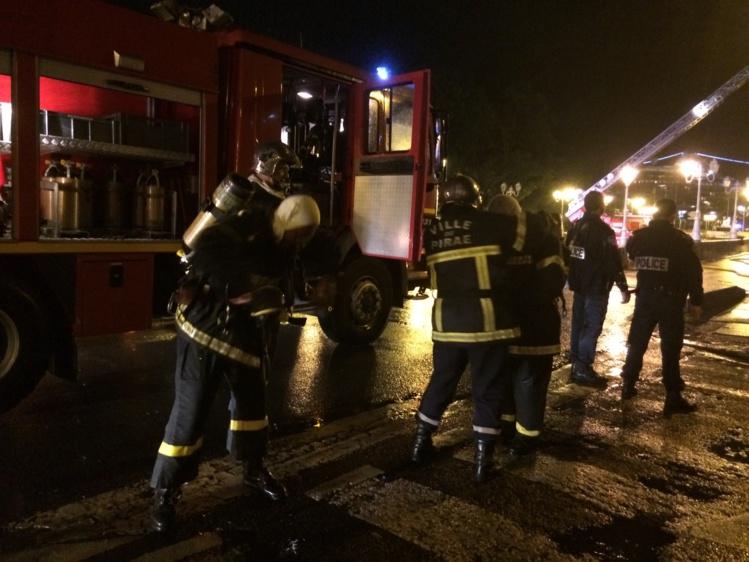 Il a fallu deux heures aux pompiers pour venir à bout de l'incendie