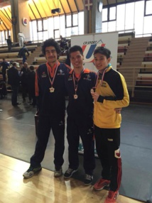 Taekwondo « chpts de France universitaire » : Waldeck en Or, Manuarii et Teddy en bronze