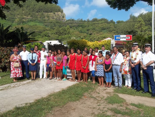 Inspection annuelle de la caserne de Gendarmerie de Rikitea
