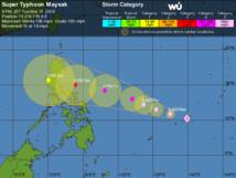 Dans le Pacifique, Maysak est en train de devenir un super-cyclone