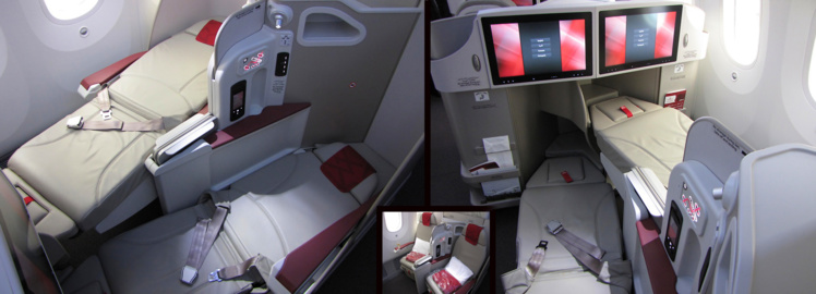 Siège Sogerma Equinox 3D sur 787 de la RAM (crédit photo flight-report.com)