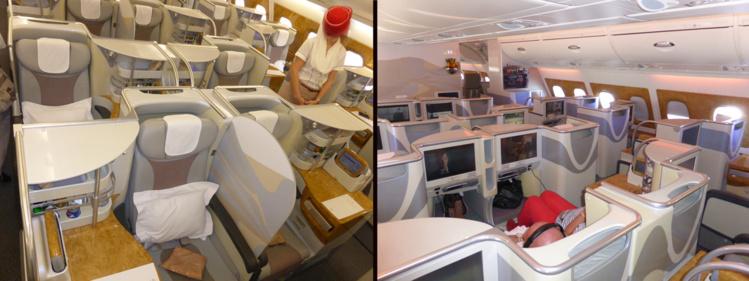 Business Emirates sur A380