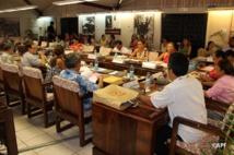 Vendredi 27 mars, la commission de l'économie et des finances de l'assemblée de Polynésie a rédigé et approuvé cinq amendements qui modifient profondément le texte de la convention (Photo APF).
