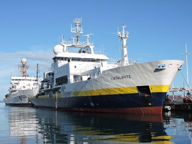 Le navire océanographique L'Atalante dispose à bord de sondeurs multifaisceaux, de bathythermographes, de célérimètres, de gravimètres, de sondes de sédiments, de température etc… et de tout un équipement informatique pour mener ses recherches