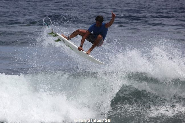 Tereva David est éliminé mais sort la tête haute de la compétition car il a su proposer un surf varié