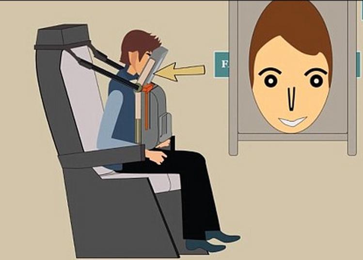 """Boeing invente le """"siège à câlins"""" pour dormir verticalement et confortablement [?] en eco"""