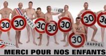 Doubs: onze élus nus affichés à l'entrée d'un village pour faire ralentir les voitures