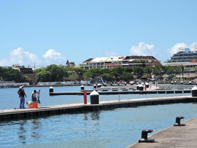 La réalisation de la marina de Papeete et de la promenade piétonne (sans les bâtiments) a coûté près de 600 millions de Fcfp.