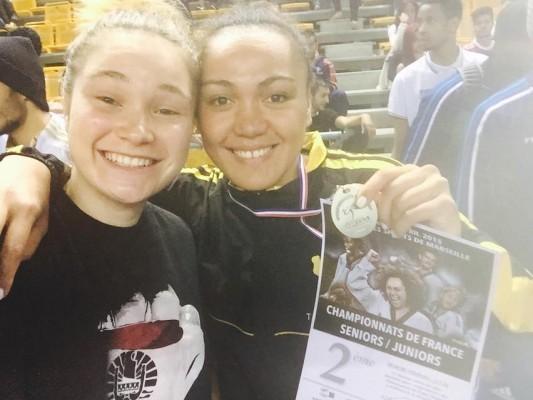 Hina Joly et Anne Caroline Graffe décrochent la médaille d'argent dans leurs catégories respectives