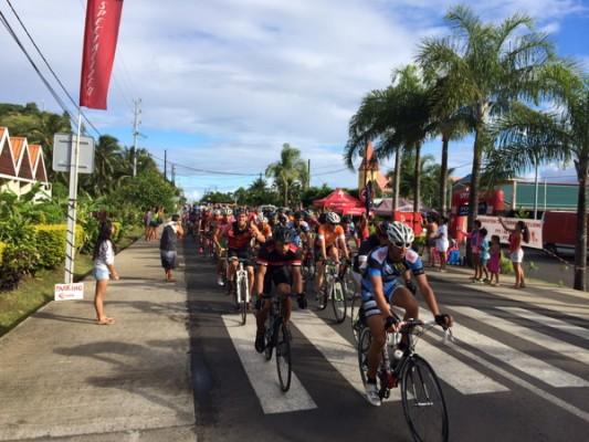 Une belle cyclo Hitia'a o te ra Cyclisme
