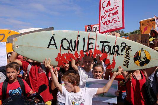 A la Réunion les nombreuses attaques de requins provoquent une vive réaction de la population (photo AFP)