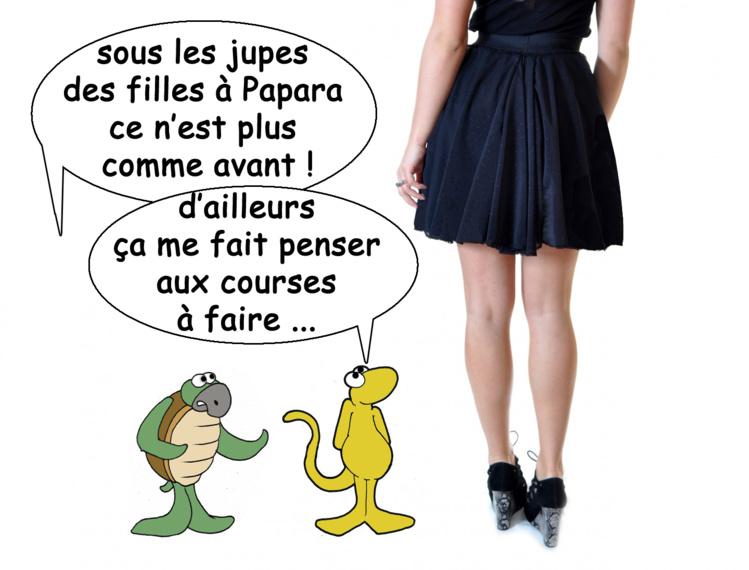 "Le ""gang des jupes"" vu par Munoz"