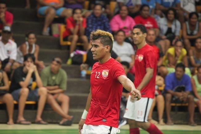Smith Tino, un excellent joueur de la sélection tahitienne, avec Tane Mave également.