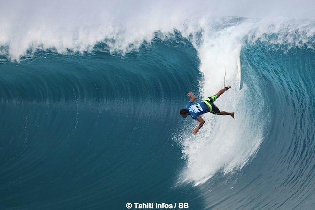 Michel lors de la dernière Billabong Pro Tahiti