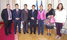 Edouard Fritch et les parlementaires polynésiens reçus par la ministre des Outre-mer
