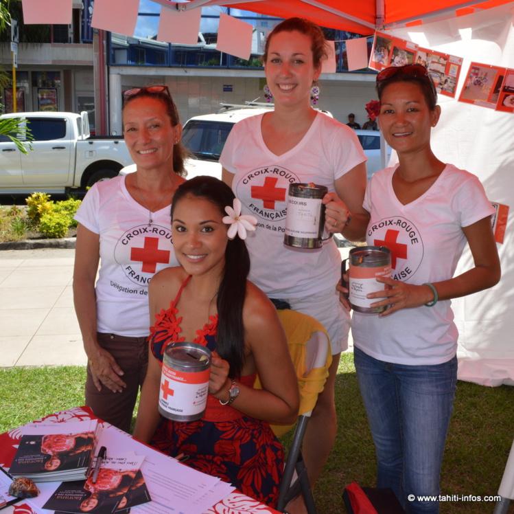 Hinarere Taputu marraine de charme pour la Croix Rouge