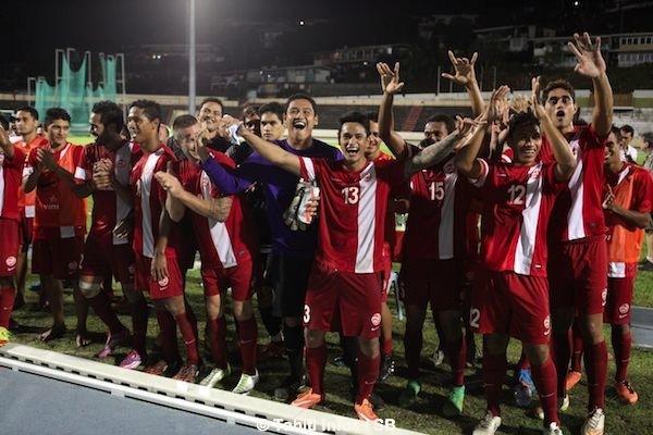 Un match historique pour le football tahitien.