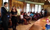 René Temeharo à la rencontre de jeunes accueillis en service civique par la FOL