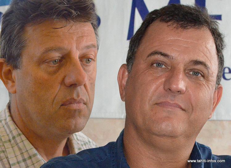 Christophe Plée, président de la CGPME et Olivier Kressmann, patron du Médef-Polynésie